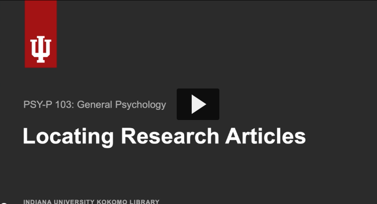 Thumbnail of video for Locating Research Articles