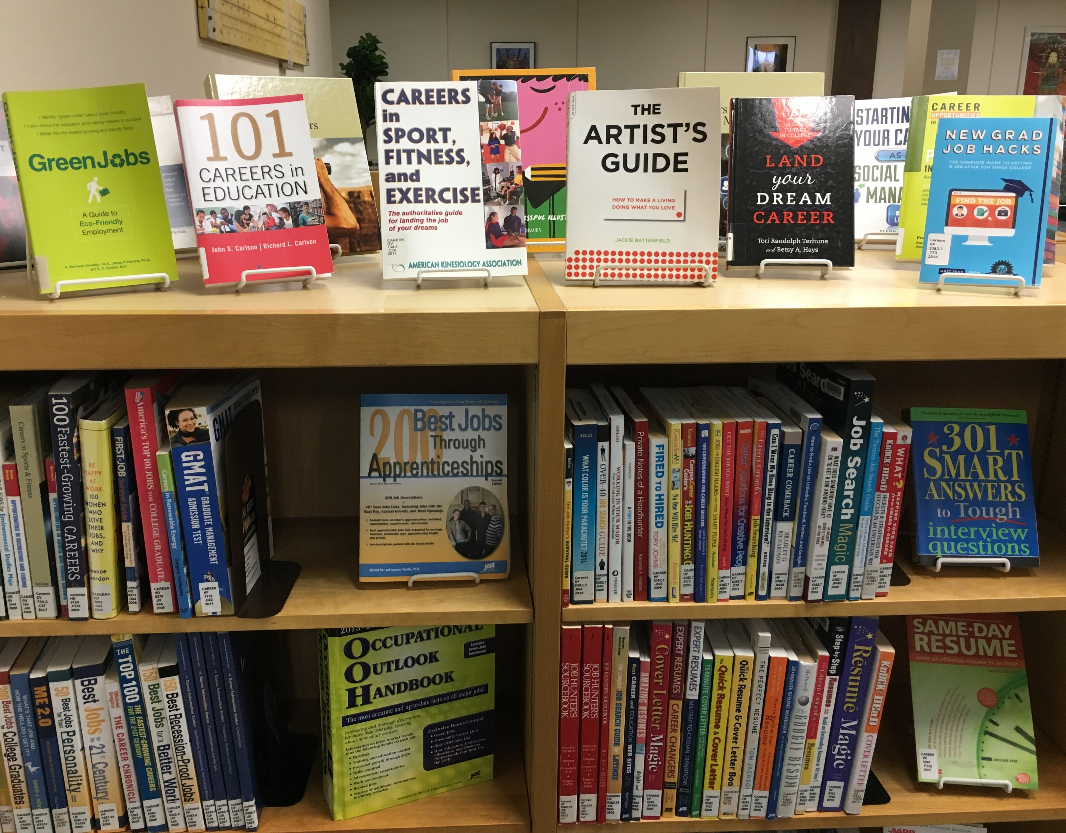 UWM at Waukesha Career Collection Bookshelf