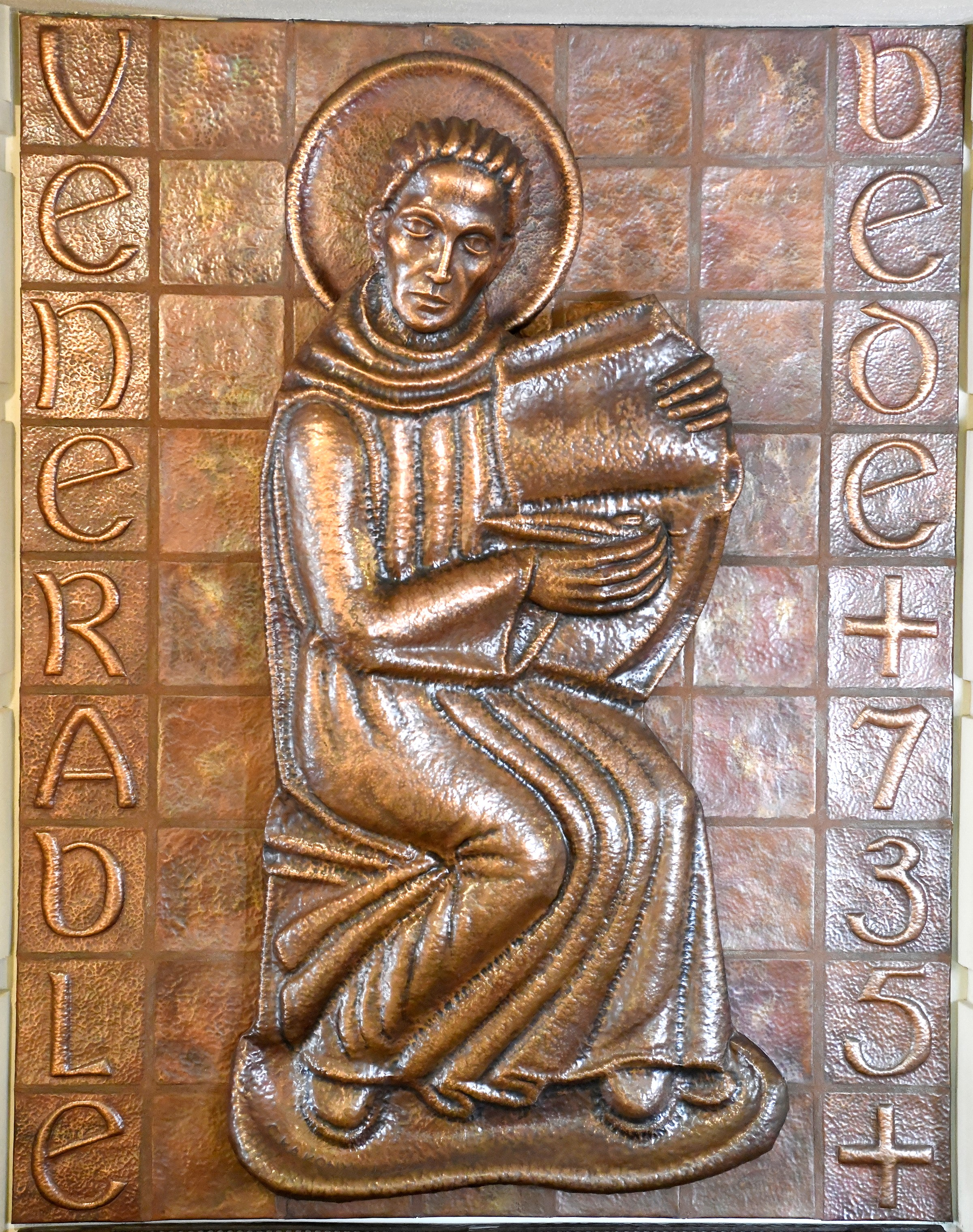 Venerable Bede Hammered Copper 1954
