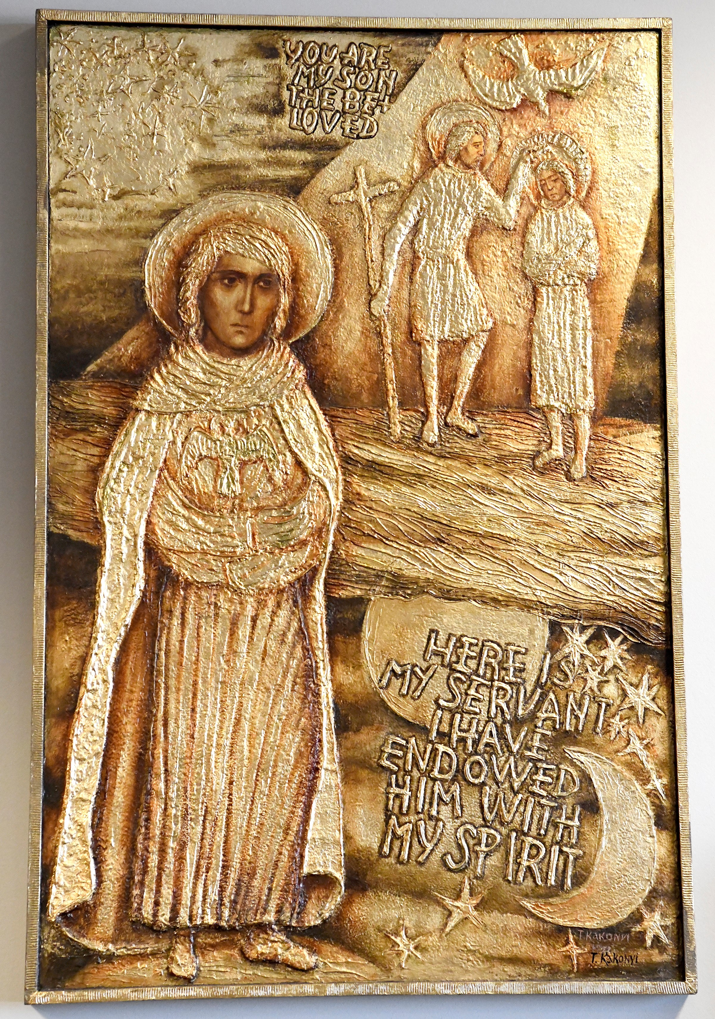 The Servant of Yahweh Metallic Foil Gold Relief 1972