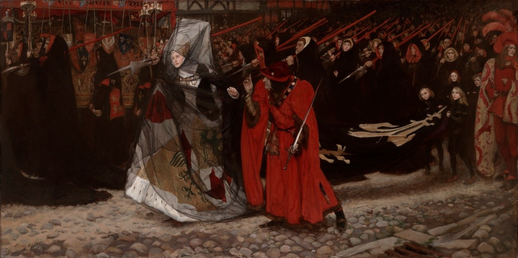 Third Floor: Richard, Duke of Gloucester, and the Lady Anne by Edwin Austin Abbey