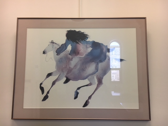 "First floor painting ""Riding Far Boy"" by Carol Grigg"