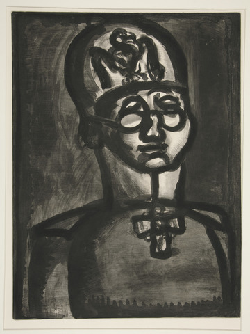 """Far from the Smile of Reims"" by Georges Henri Rouault"