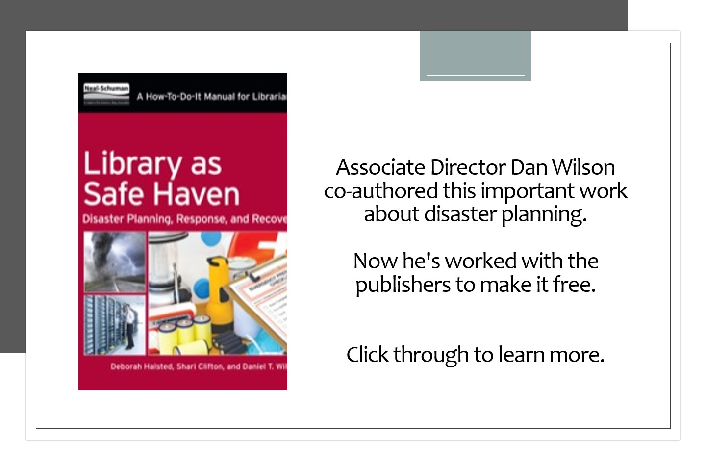 disaster planning book information