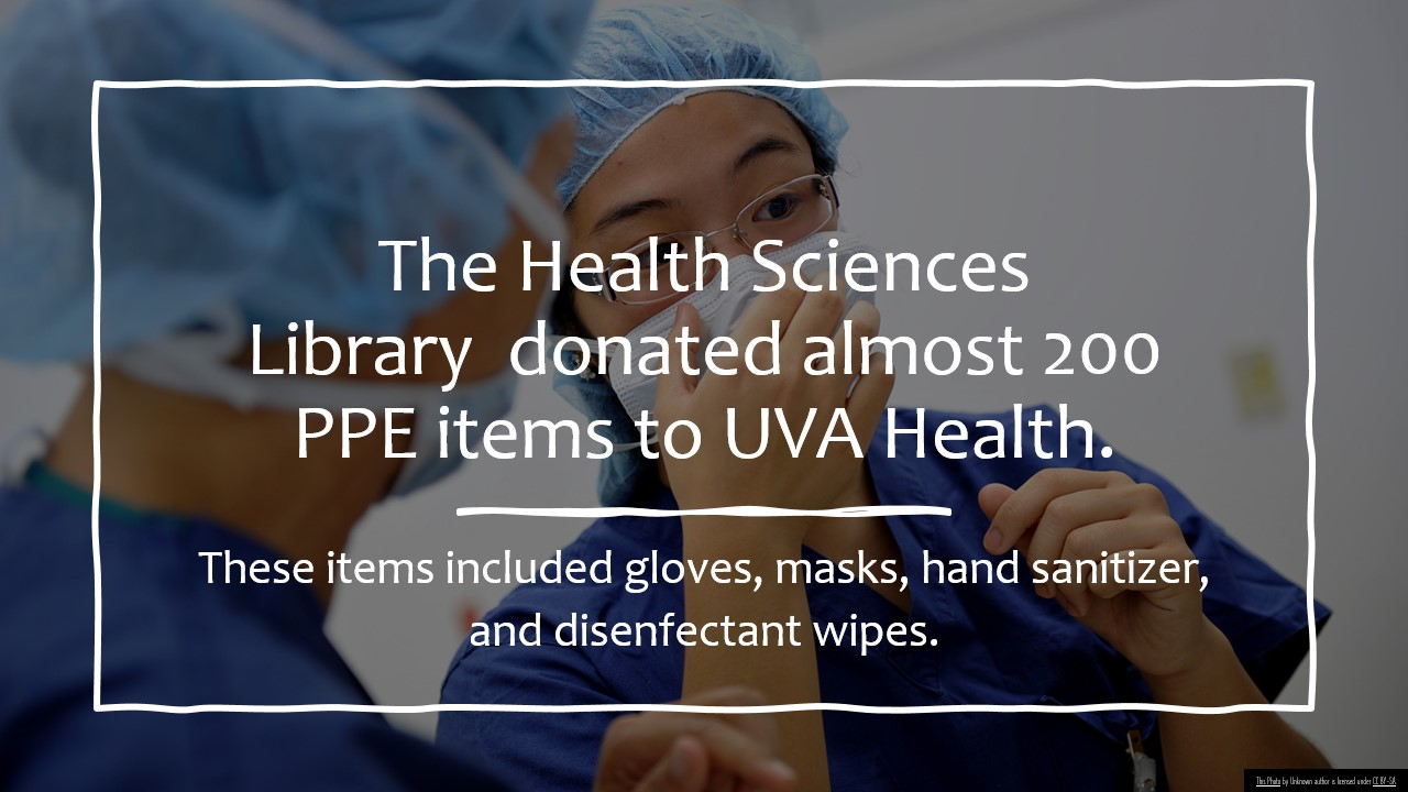 library ppe donations