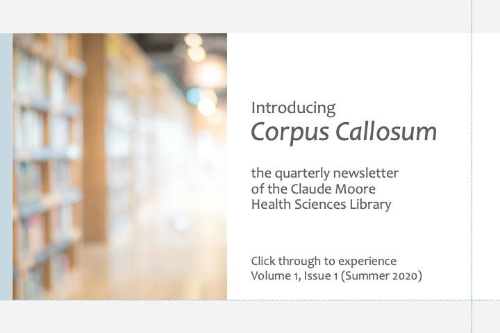 Introducing Corpus Callosum newsletter