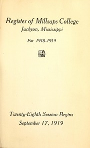 College Catalog Title Page 1918-1919