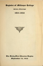 College Catalog Cover 1931-1932