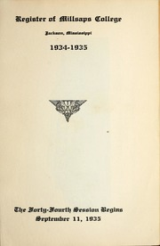 College Catalog Title Page 1934-1935