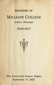 College Catalog Title Page 1936-1937