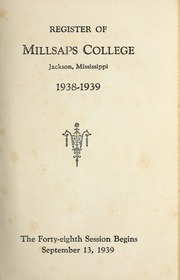 College Catalog Title Page 1938-1939