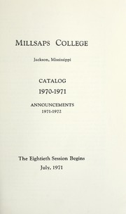 College Catalog Title Page 1970-1971