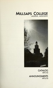 College Catalog Title Page 1971-1972