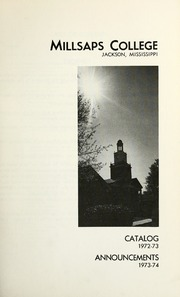 College Catalog Title Page 1972-1973