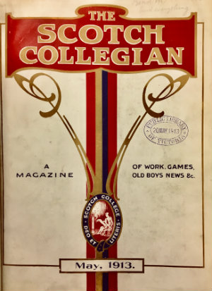 Colour cover of The Scotch collegian : quarterly magazine.