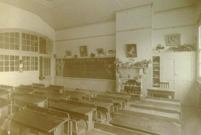 Photograph, Interior of empty classroom H92.150/866