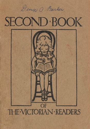 Cover of Second book of the Victorian readers