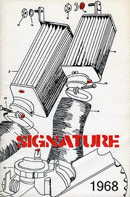 Cover image, Signature 1968