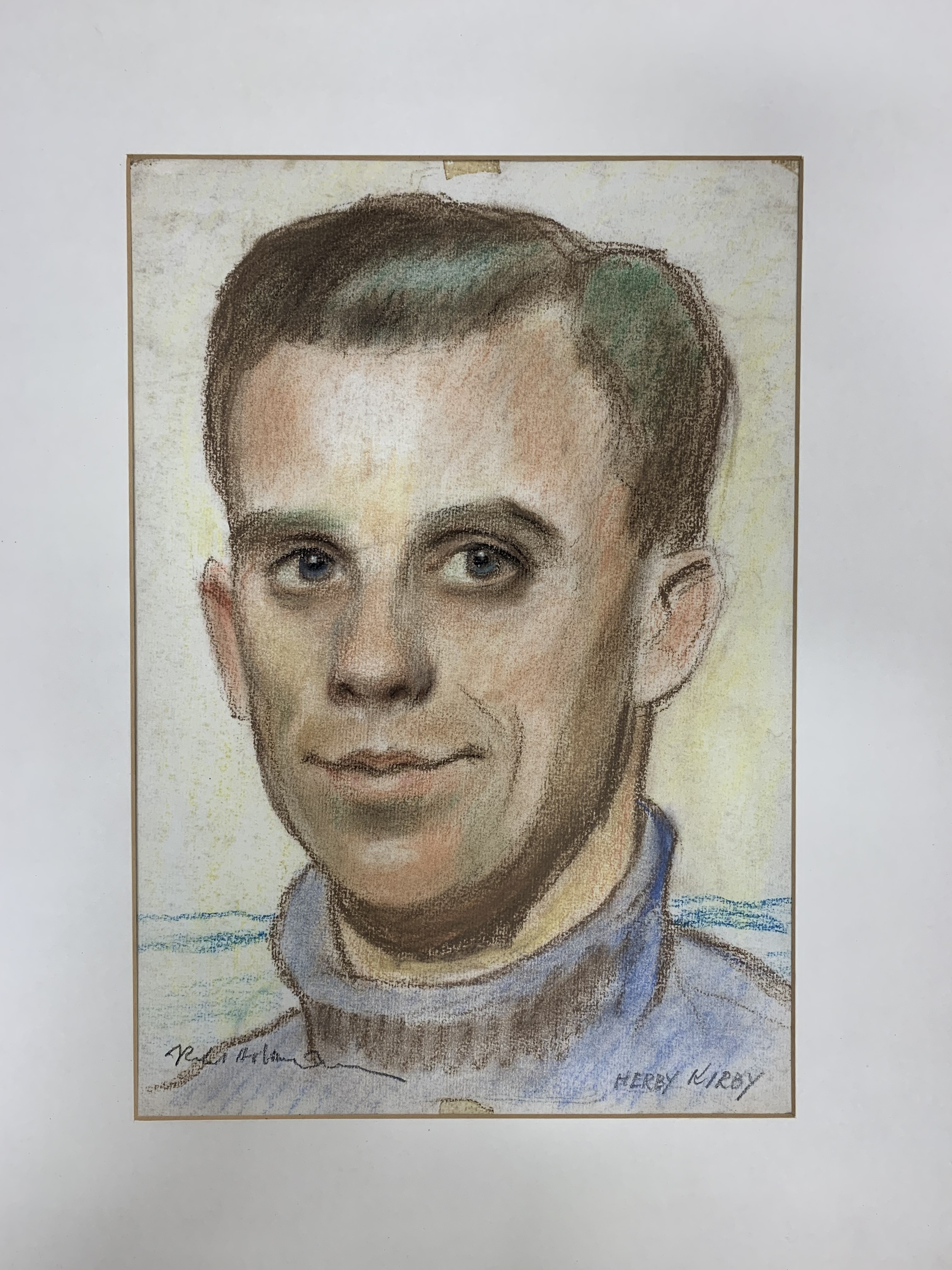 Drawing of Herby Kirby by Robert Hofmann from the 1960s