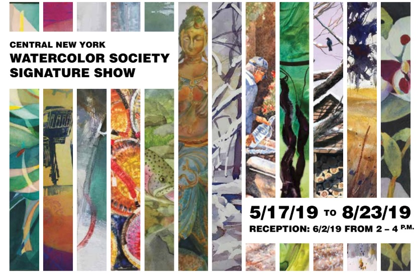 postcard for Watercolor society exhibit