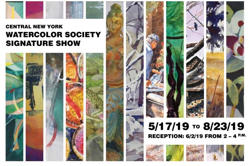 postcard for Watercolor society exhibit