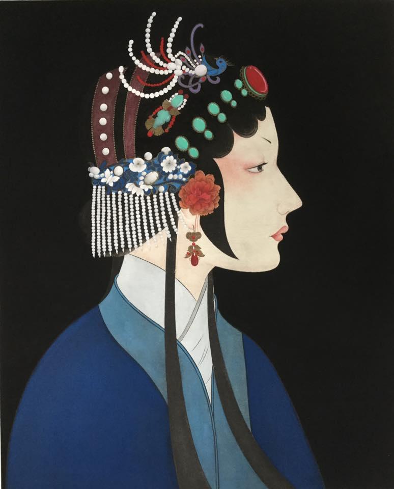 Opera Girl painting