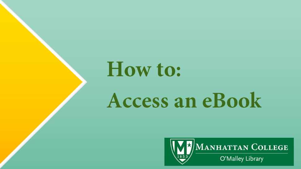 How to: Access an eBook