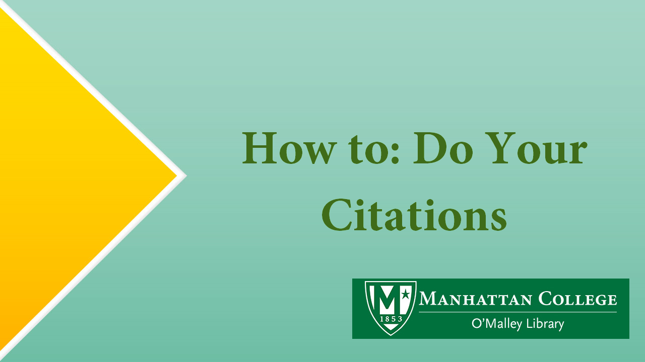 Green Text - How to Do Your Citations