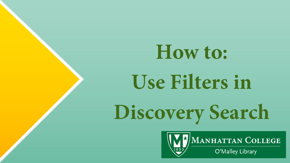 How to: Use Filters in Discovery Search