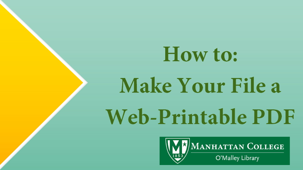 How to: Make Your File a Web-Printable PDF