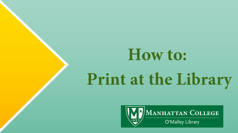 How to: Print at the Library
