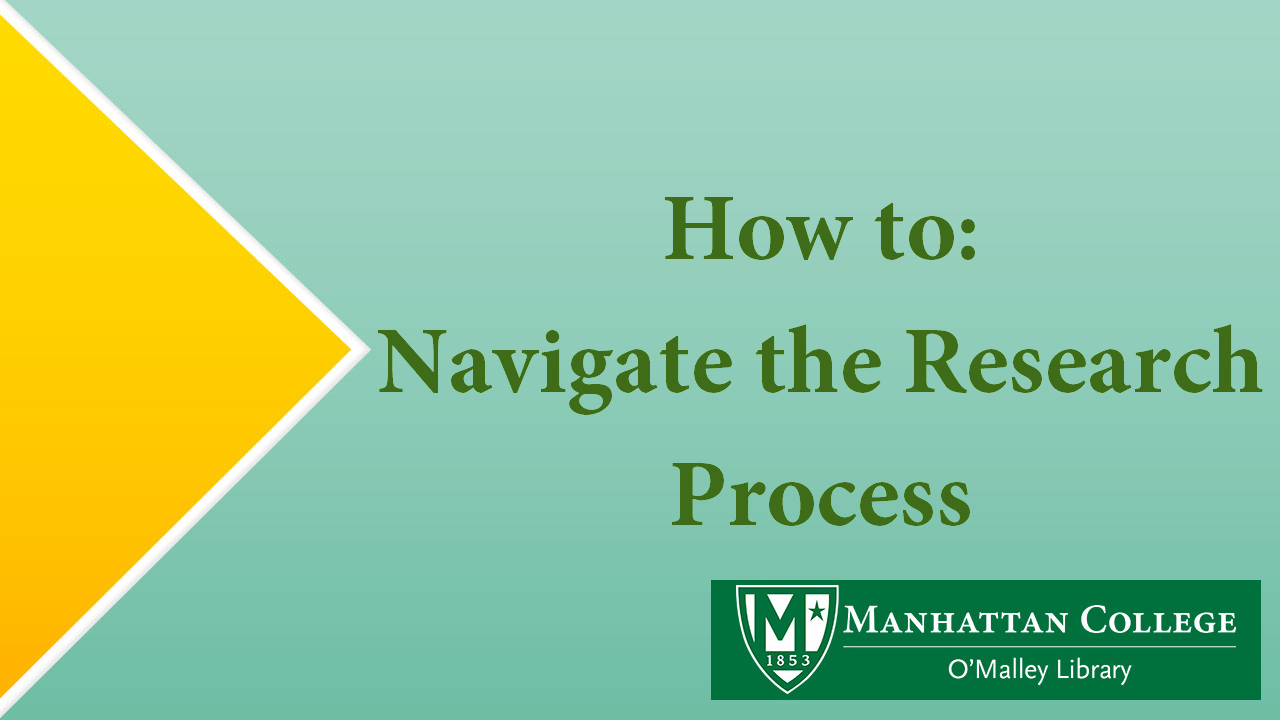 Green Text on Green - How to Navigate the Research Process