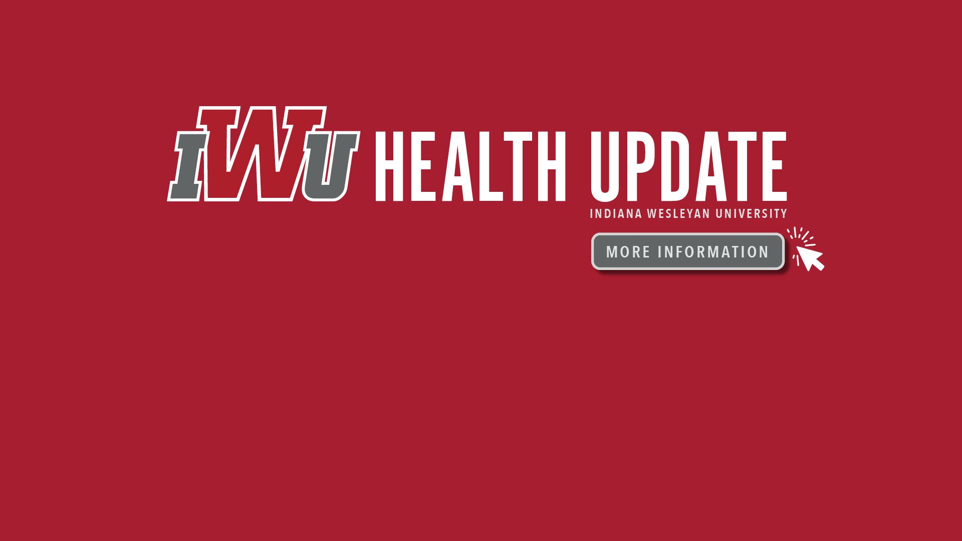 IWU Health Update