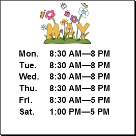 May Term Hours