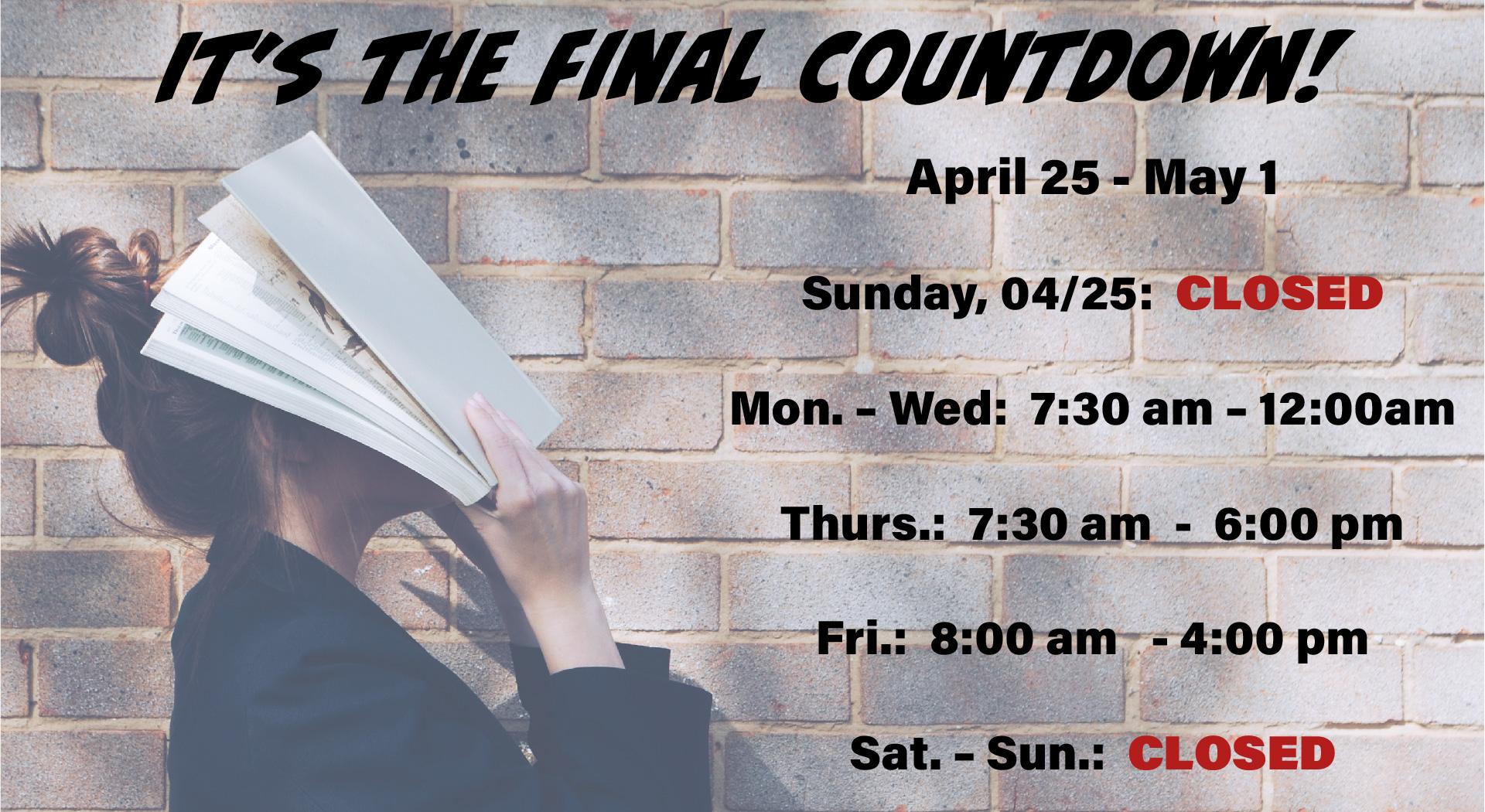 Final Countdown -- Finals Week