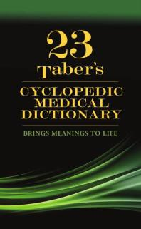 Taber's Cyclopedic Medical Dictionary, 23e