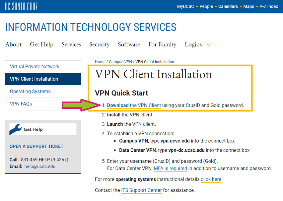 VPN Client download link