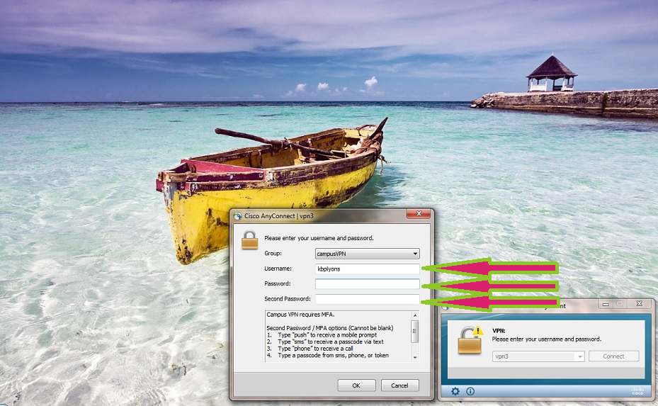 CruzID and Gold password pop-up box