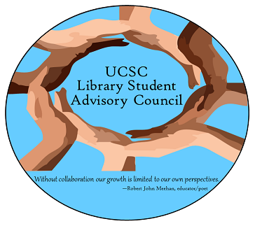 Library Student Advisory Council logo and slogan