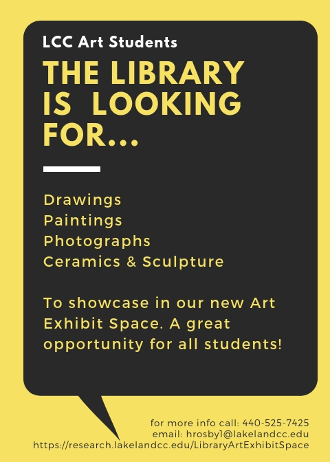 Art in the Library Flyer