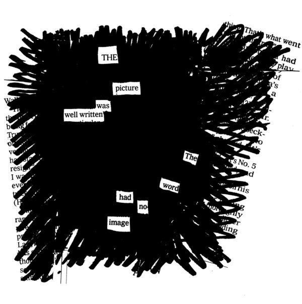Example Blackout Poetry