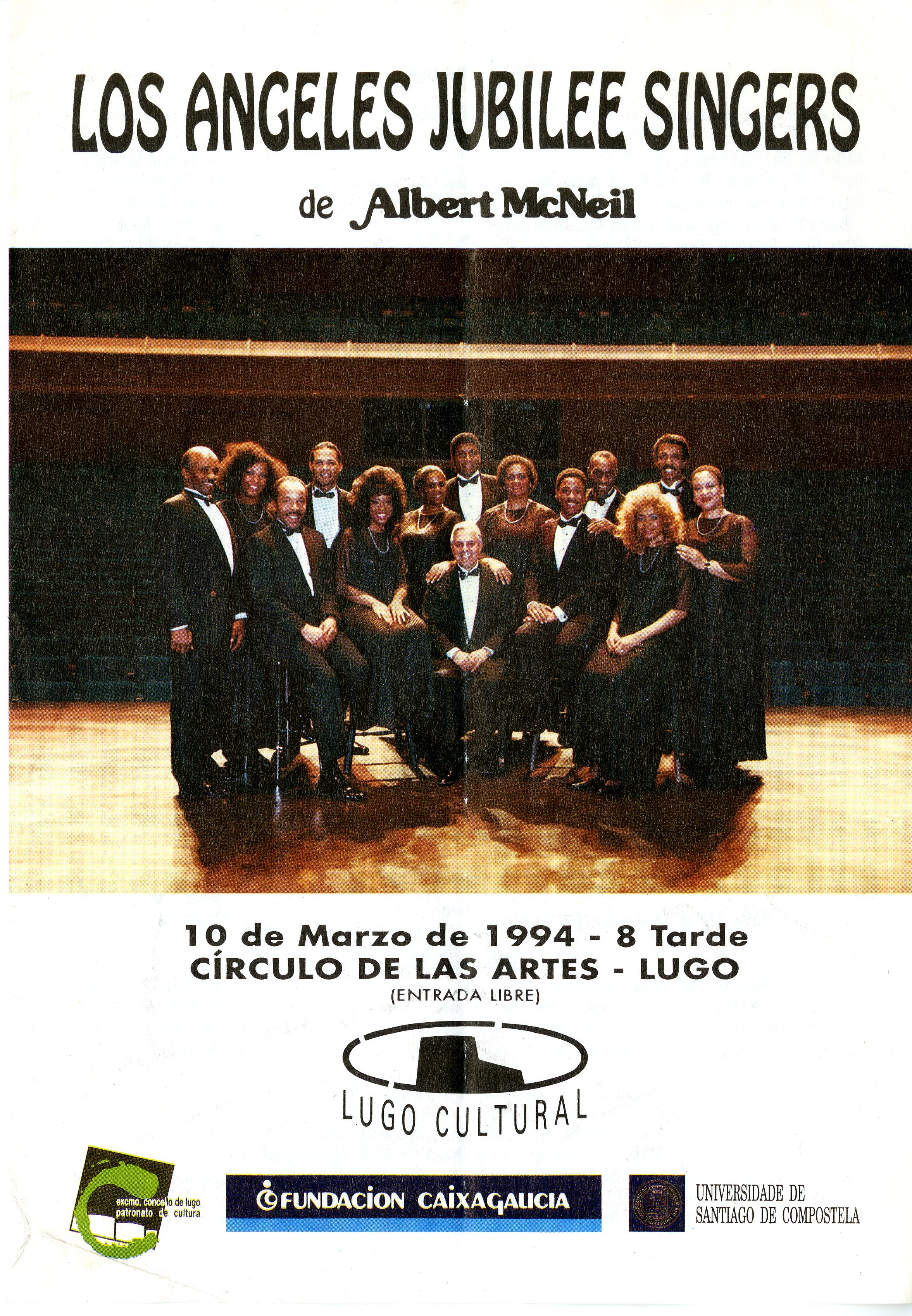 Los Angeles Jubilee Singers program