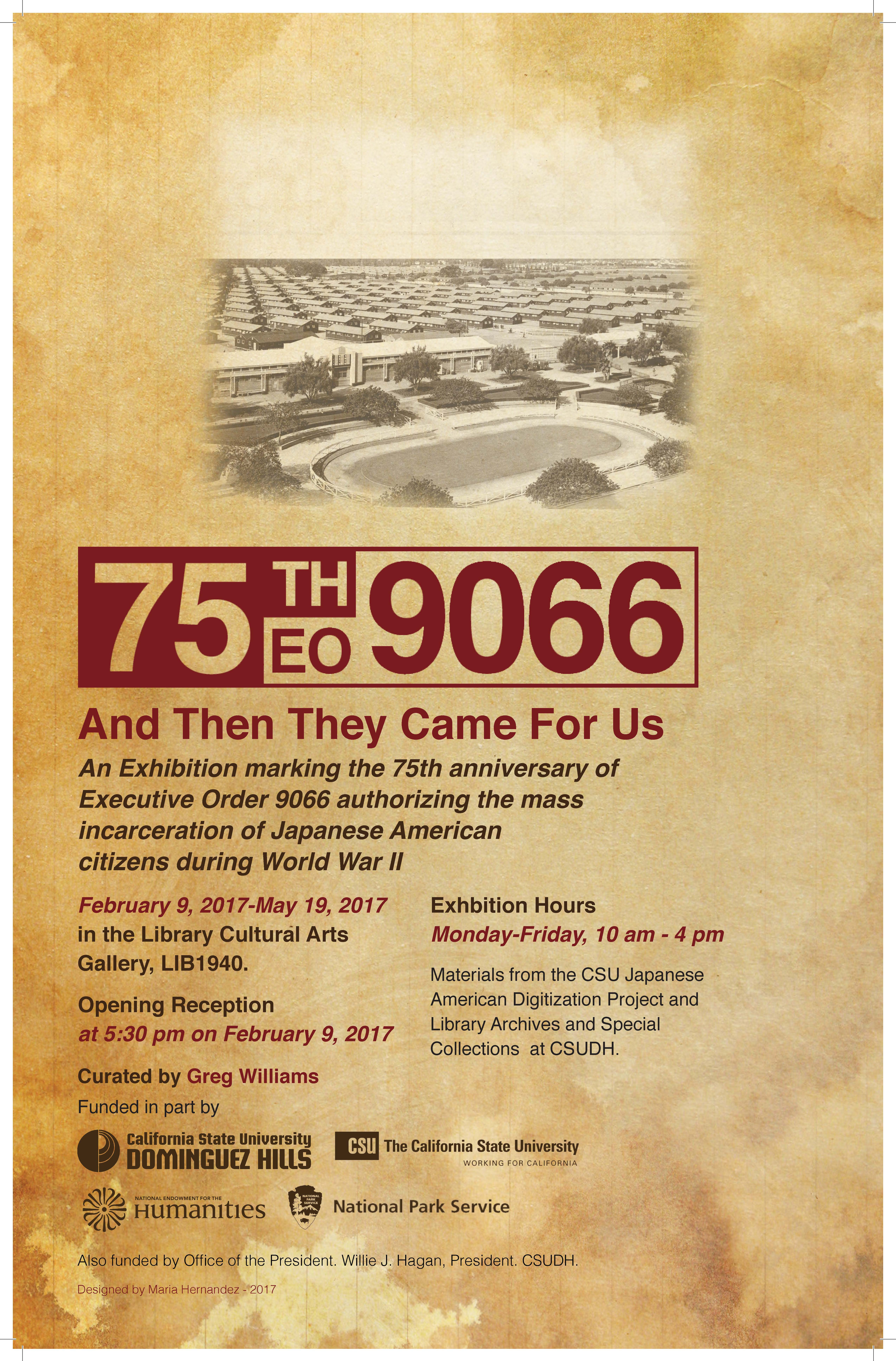 Executive Order 9066 75th anniversary exhibit flyer