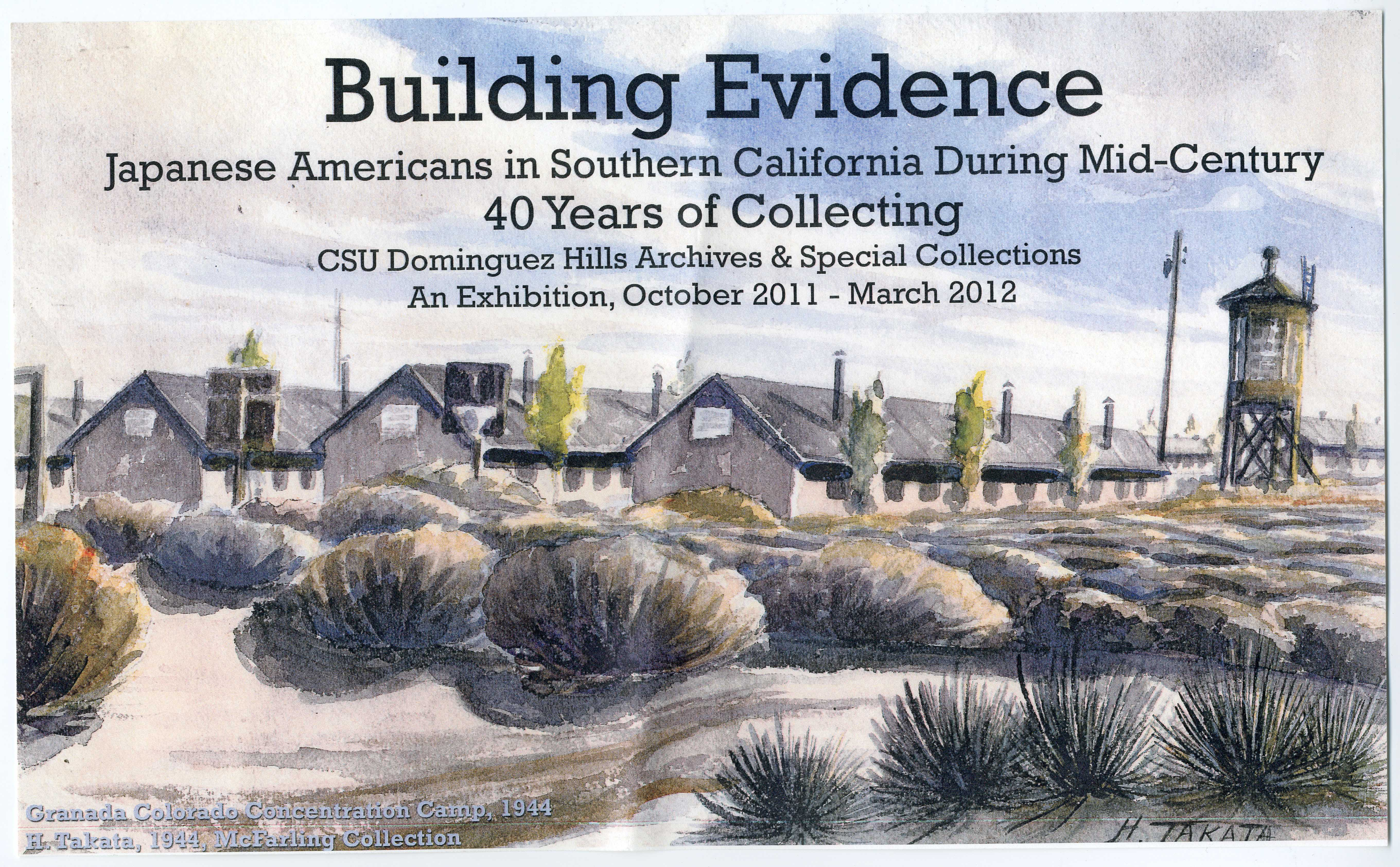 Building Evidence Japanese American Exhibit flyer
