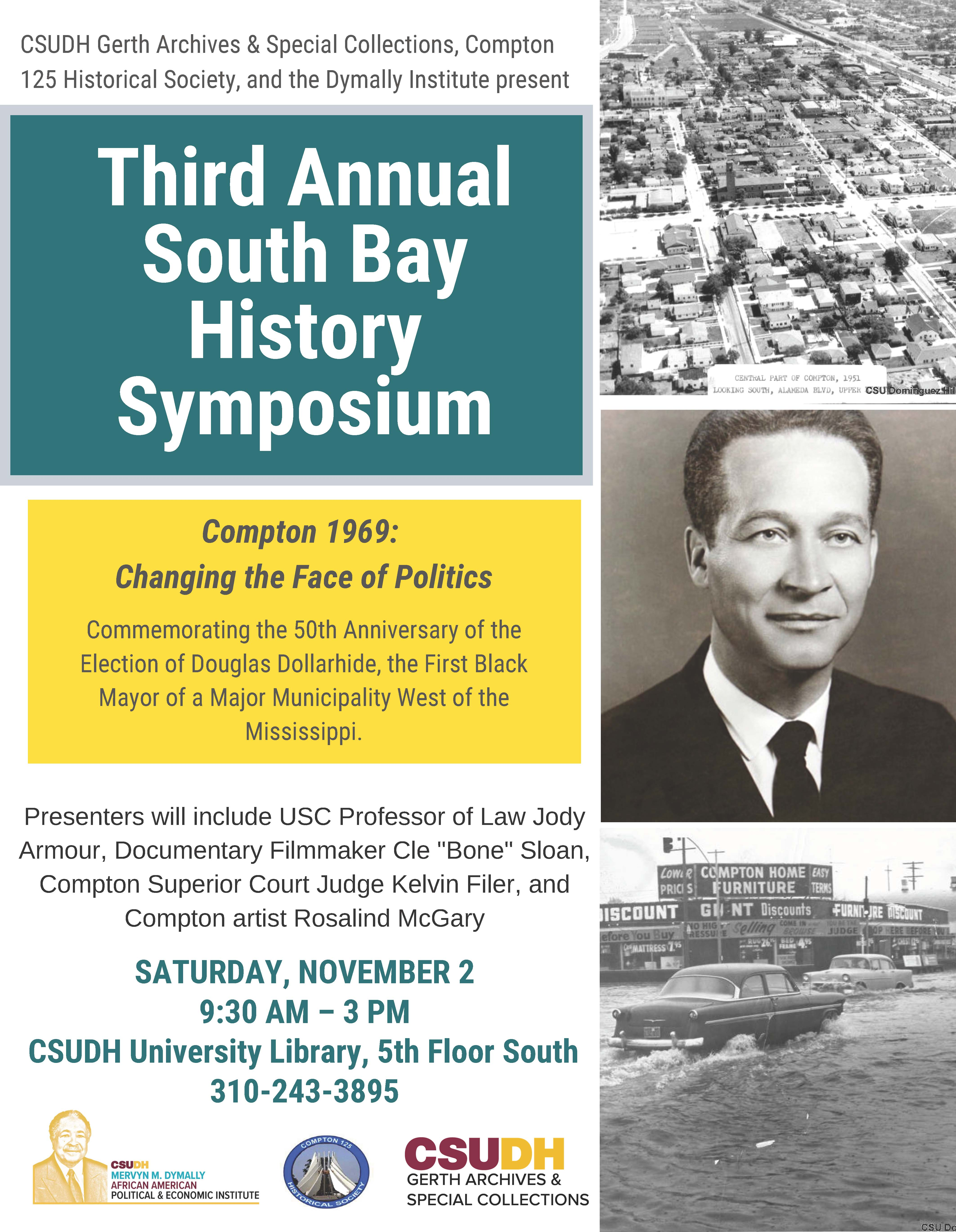 Flyer for 2019 South Bay History Symposium