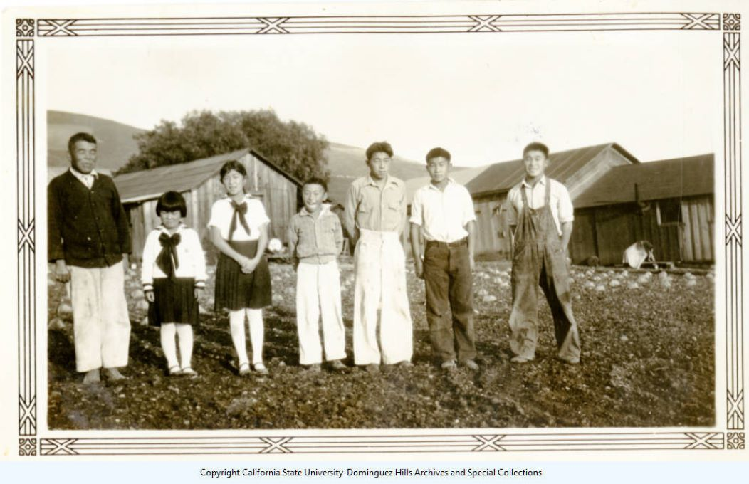 Photograph of Kumekichi Ishibashi with Children from Ishibashi Family Colleciton
