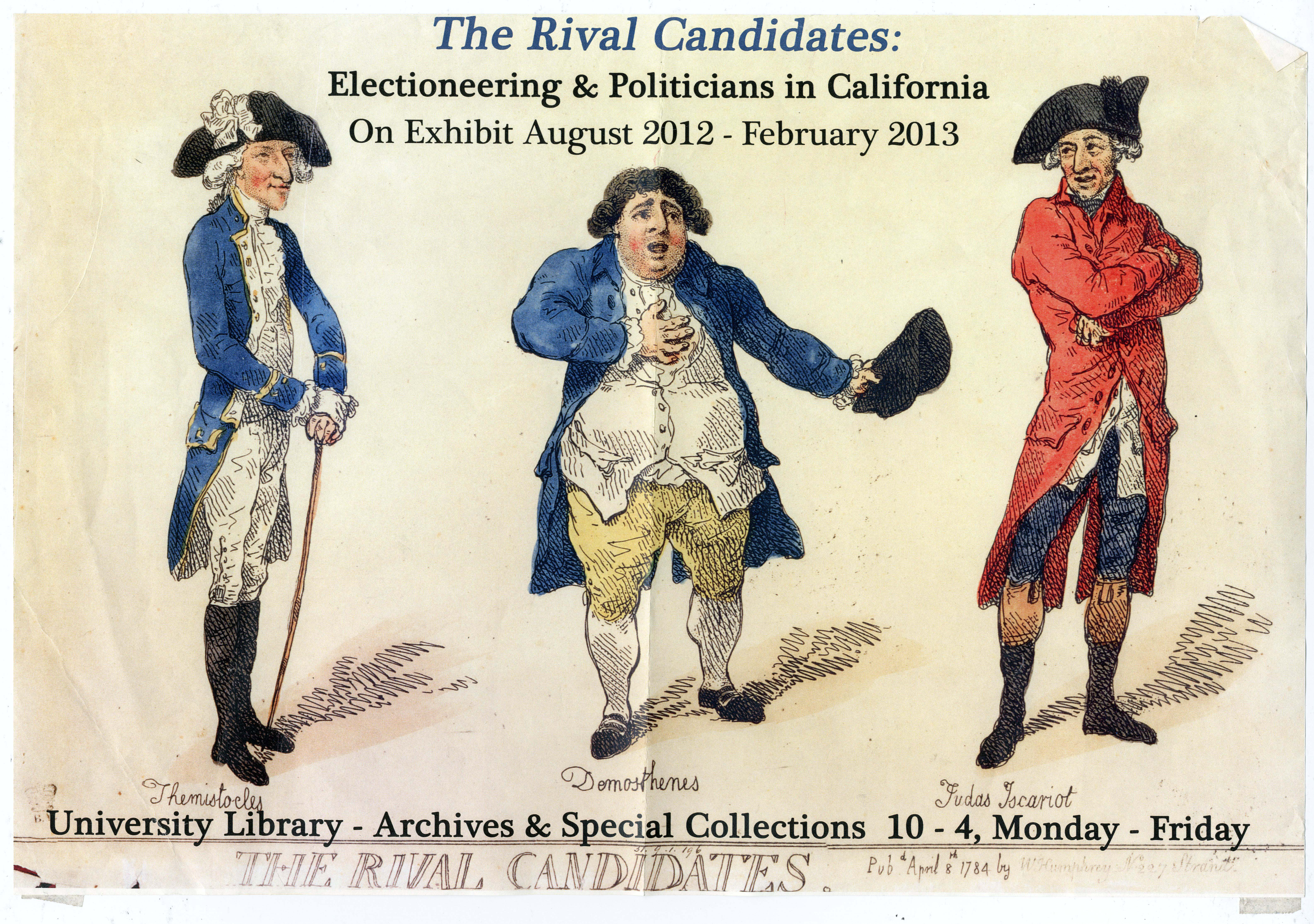 The Rival Candidates flyer