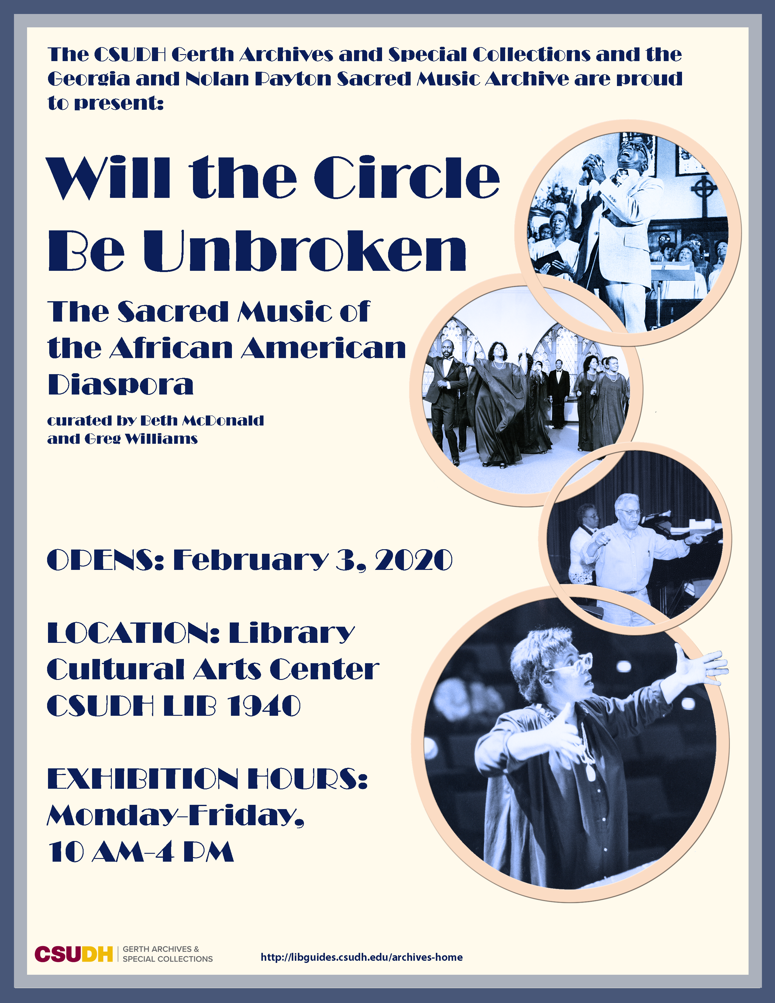 Sacred Music of the African American Diaspora Exhibit Flyer