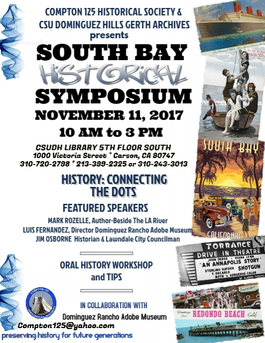 South Bay Historical Symposium marketing flyer
