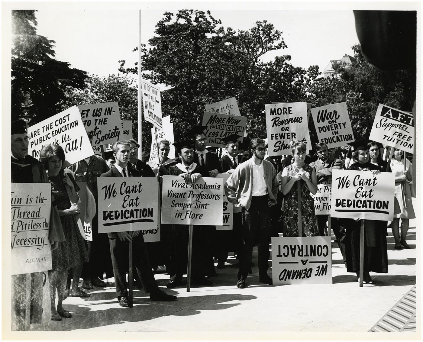 Faculty protest photograph from the California State University System Archives